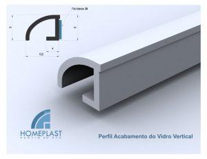 PERFIL ACABAMENTO DO VIDRO VERTICAL - Cod.137