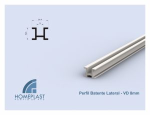 PERFIL BATENTE LATERAL VD8MM - Cod.065