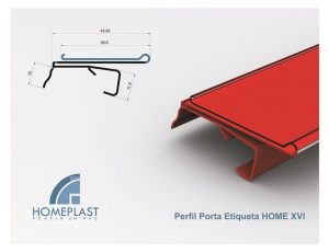 PERFIL PORTA ETIQUETA HOME 16 - Cod.078