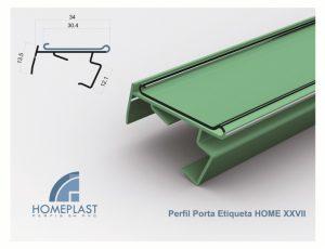 PERFIL PORTA ETIQUETA HOME 27 - Cod.110