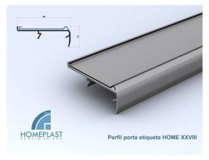PERFIL PORTA ETIQUETA HOME 28 - Cod.111