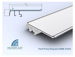 PERFIL PORTA ETIQUETA HOME 36 - Cod.132
