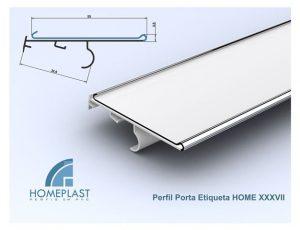 PERFIL PORTA ETIQUETA HOME 37 - Cod.133
