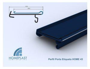 PERFIL PORTA ETIQUETA HOME 43 - Cod.152