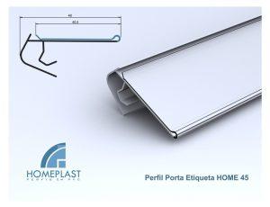 PERFIL PORTA ETIQUETA HOME 45 - Cod.164