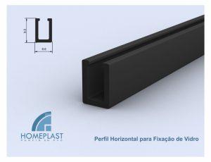 PERFIL HORIZONTAL PARA FIXAÇÃO DE VIDRO - Cod.148
