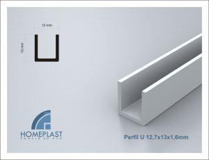 PERFIL U 12,7x13x1,6mm - Cod.035