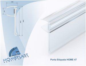 PERFIL PORTA ETIQUETA HOME 47 - Cod.196
